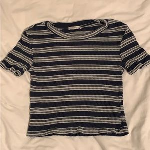 Zara Ribbed Striped Crop Top